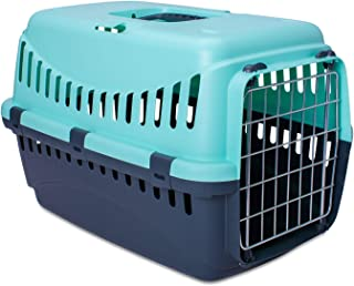 MP Bergamo 运输篮 Gipsy 金属 适用于猫 绿松石色 13 千克