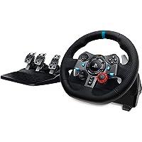 Logitech 羅技 G29 Driving Force 游戲賽車方向盤,雙電機力反饋,900°轉向范圍,賽車皮革方向…
