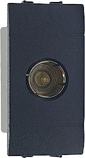 02475-F2/LIV.INT。 - 电视插座配套天线插座电视插座兼容Living Internal,煤黑色,1米,电视被动插座,意大利制造