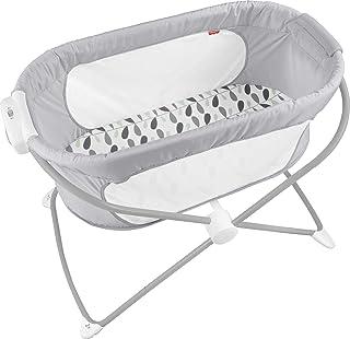 Fisher-Price 舒缓景观摇篮 – 攀岩树叶折叠便携式婴儿摇篮,适用于新生儿和婴儿。