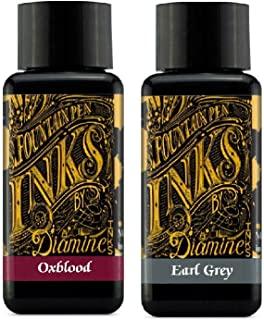 Diamine - 30ml 钢笔墨水 2件装 - 血红和伯爵灰