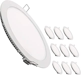 LED Atomant Pack 10 x 面板筒灯 LED 圆形扁平现代套装 10 x 白色 中性4500 K