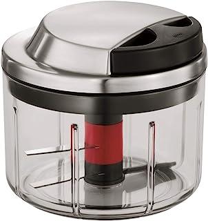 RÖSLE 多功能切割机,用于水果和蔬菜,带超锋利刀,不锈钢18/10,包括草药杯,搅拌配件和储存盖