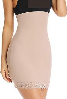 Shapewear 连衣裙一脚蹬 适合下裙半滑收腹无缝*塑身衣 带蕾丝