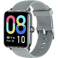 LETSCOM 智能手表 适用于 Android 手机 兼容 iPhone,1.55 英寸触摸屏,健身追踪器带心率监测器…