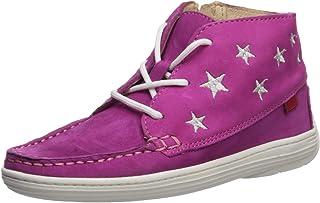 MARC JOSEPH NEW YORK 儿童皮革及踝靴刺绣星星细节乐福鞋