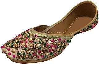 Step n Style 多色刺绣手工女式芭蕾舞鞋 Mojari Sandel Juti Khussa 鞋