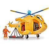 Simba Wallaby II 109251002 消防员山姆和直升机,带Tom Thomas人偶,带有灯光和声效,螺…