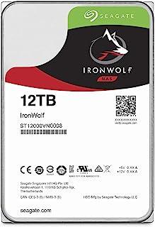 """Seagate 希捷 IronWolf 3.5"""" 12TB 内置HDD 机械硬盘(CMR) 256MB 7200rpm 24小时续航 PC NAS 用 RV传感器 ST12000VN0008"""