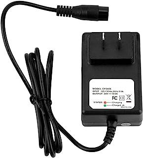 24V 0.6A 电动滑板车电池充电器适用于 Razor E100 E125 E500S PR200 美国插头 110V