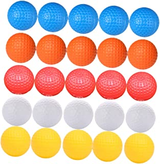 BESPORTBLE 高尔夫练习球 - 创意无孔真实感高尔夫球/柔软,适合室内或室外训练(白色 + 黄色 + 橙色 + 红色 + 蓝色,6 支/每支)