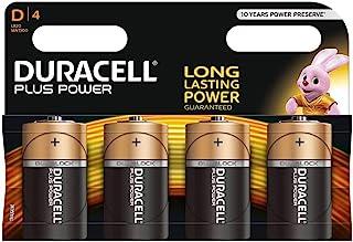 Duracell MN1300 Plus Power D Size Batteries, 4 Batteries