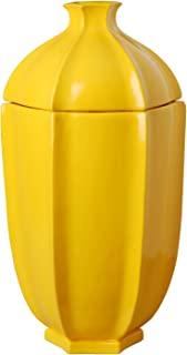 Emissary Home & Garden 黄色带盖石榴罐,50.80 cm 高