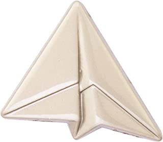 Knighthood 银纸飞机翻领别针/胸针 男式