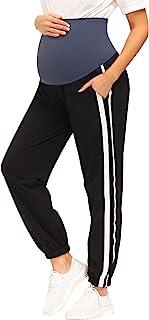 Maacie 女式孕妇慢跑运动裤 超柔软带口袋