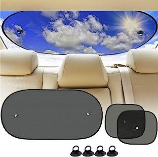 Big Ant 汽车遮阳罩,婴儿车遮阳罩套装,后窗遮阳罩和 2 个侧窗遮阳挡阳光热紫外线照射,适合儿童和宠物
