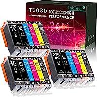 Tuobo 新芯片 PGI-270XL CLI-271XL PGI 270 XL CLI 271 XL 兼容墨盒適用于 Pixma MG5720 MG5721 MG5722 MG6820 MG6821 MG7720 TS6020 TS8020 TS9020 18 Pack with Gray