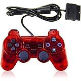 PS2 游戏有线控制器,GamePal 适用于索尼 Playstation 2(黑色2件装)
