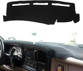 MODIGT 仪表板盖垫左驾驶定制适合 1999-2006 雪佛兰 Silverado 雪崩 Tahoe 郊区 GMC 皮卡 Yukon 保护套黑色仪表板垫