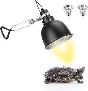 None/Brand Seven Master 25W 爬行动物加热灯,Basking Spot Dome 灯适用于带固定器和开关的水族箱,UVA UVB 夹/悬挂灯适用于龟蜥蜴和其他爬行动物(带 2 个灯泡)