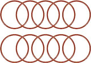 uxcell 硅胶 O 形圈,外径58毫米,内径53.2毫米,宽2.4毫米,VMQ密封圈,红色,10件