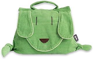 "SIMPLY GOOD 幼儿背包小猫和小狗友好脸设计你的孩子会喜欢。14.1 x 10.6 英寸 小狗绿 14.1 x 10.6"""