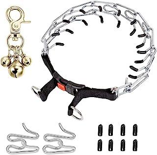 DEENKK 狗爪项圈,狗狗窒息夹紧训练项圈,带快速释放按扣,适用于中小型犬,中型大型犬,附带两个额外链环(小号)