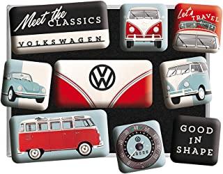 Nostalgic-Art 复古冰箱磁铁与经典 – 大众粉丝的礼物,磁性套装,复古设计,9件