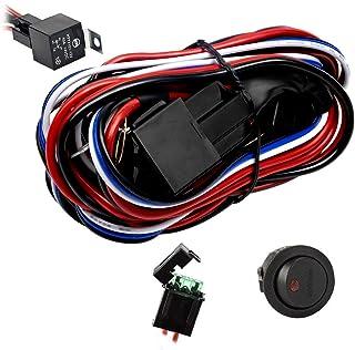 Eyourlife 12V 40A 越野 LED 灯条开关继电器线束(新款)