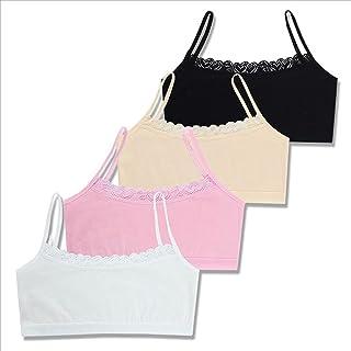 MICIA 奢华内衣 文胸 女孩 儿童 4件装 棉 蕾丝 6~12岁 均码 5124