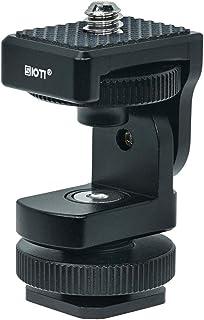 SIOTI 相机热靴适配器支架,带角度可调节功能,相机热靴支架,闪光灯支架(热靴至 0.64 厘米)(热靴至 0.64 英寸(约 0.64 厘米),可调节)