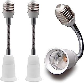 延长插座延长适配器,E26 至 E26 可调节延长器,灵活的中型灯泡插座转换器
