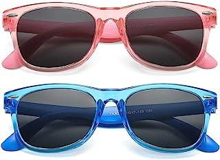 儿童偏光旅行太阳镜 TPEE 橡胶柔性灯罩适合男孩 3-10 岁儿童