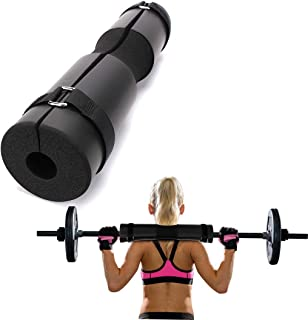 Furmenic Foam Barbell Pad for Squats,Black Barbell Bar Padding Velcro, Lunges, Hip Thrusts,Fit Standard and Olympic Streng...