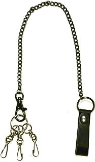 Swing 日本制造 牛皮 钥匙链 长链钥匙圈 S037 黑色 S037BK