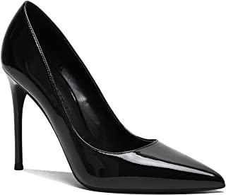 LEHOOR 女式经典尖头高跟高跟鞋性感细高跟 4 英寸(约 10.2 厘米)*光泽一脚蹬礼服鞋适合女士新娘婚礼派对晚会 4-10 码美国