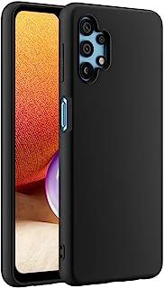 Cresee 兼容三星 Galaxy A32 5G 手机壳,超薄硅胶保护套,带超细纤维内饰防刮超薄贴合灵活手机壳 - 黑色