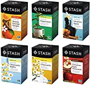 Stash Tea 舒缓凉茶,6种风味组合,6盒