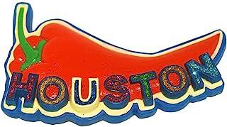 Houston City 红胡椒闪光字母*磁性聚合冰箱磁贴