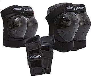 GLOBTOUCH 儿童男士女士护膝肘护具防护装备护腕幼儿到成人适用于多种运动滑板滑冰骑行骑行