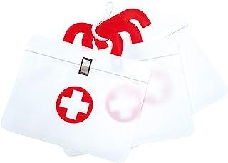 EPOS 纽扣创意纸盒 药袋 可爱 急救箱 密封袋 白色×红色 3件套装 7337