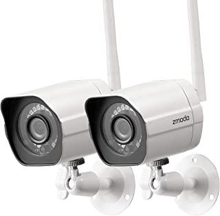 Zmodo 1080p 全高清户外无线*摄像机系统,2 件装智能家居室内户外 WiFi IP 摄像机带夜视功能,兼容 Alexa