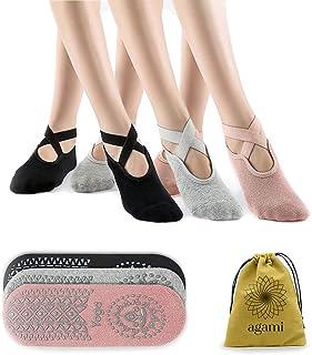 Agami 防滑抓地力女士瑜伽袜   非常适合瑜伽 • 普拉提 • Barre • 舞蹈 • 芭蕾 • *