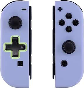 eXtremeRate 背板,适用于任天堂切换控制台,NS Joycon 手持控制器外壳,带全设置按钮,DIY 替换外壳,适用于 Nintendo SwitchJZP309  Joycon Shell and Buttons - Dpad Version