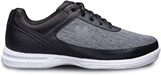 Brunswick 男式防毛静电保龄球鞋 - 黑色/灰色宽