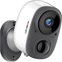室内户外 IP65 防水可充电5200mAh 电池无线*摄像头 - 1080P 监控系统,带云存储,SD 插槽,双向音频…