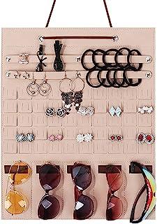 各种储物首饰夹门挂式收纳架展示垫,用于展示耳环环项链太阳镜