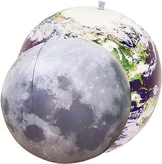 Jet Creations 充气地球仪和月亮 2 件装,16 英寸(约 40.6 厘米)科学太空天文学教育玩具,适合 3 岁以上儿童,JC-EARTHMOON