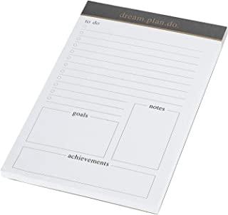 每日计划记事本每日计划垫每日议程 80 未注明日期的 A5 尺寸撕纸待办清单、清单、日历、组织者、日程安排、生产力跟踪器、组织任务、目标、备注 (A5)