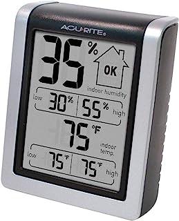 """AcuRite 00613 数字湿度计,室内温度计,预校准湿度计,3"""" H x 2.5"""" W x 1.3"""" D(约7.62厘米 x 6.35厘米 x 3.30厘米)"""